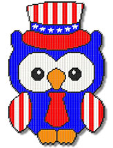 Patriotic Boy Owl
