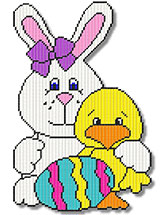 Primsy Bunny With a Duck and Egg