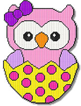Easter Girl Owl