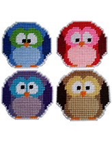 Roundy Owl Coasters