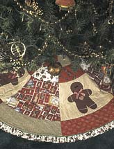 Gingerbread All Around Tree Skirt