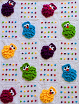 Rainbow Owls Baby Blanket