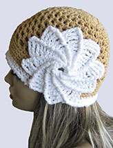 Spiral Flower Summer Hat