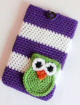 "Striped Owl 7"" Tablet Cover"