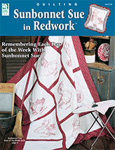 Sunbonnet Sue in Redwork