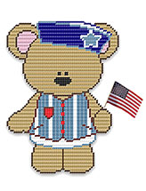 Jared Bear With Flag Wall Hanging