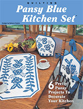 Pansy Blue Kitchen Set