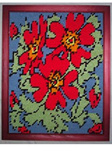Red Flowers Wall Hanging