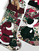 Overall Santa & Sunbonnet Sue Stockings