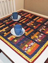 Stripes & Squares Table Topper
