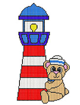Bon Voyage Bear With A Lighthouse