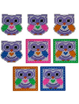 Neon Bright Owl Coasters & Magnets