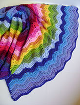 Crochet in Technicolor Waves Blanket
