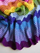 Knitting in Technicolor Waves Blanket