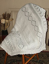 Paneled Shawl/Baby Blanket
