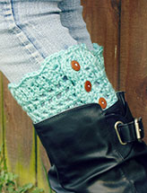 Stylish Button Boot Cuffs