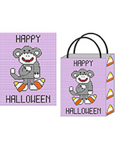 Candy Corn Lovin' Sock Monkey Tote & Wall Hangings