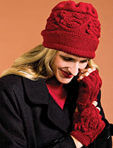 Celtic Vine Hat & Fingerless Gloves
