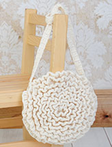 Ruffled Flower Purse