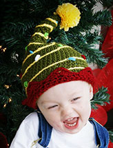 Christmas Tree Hat With Lights