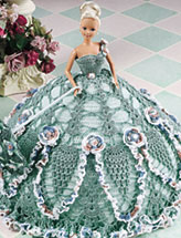 Green Pineapple Fashion Doll Gown