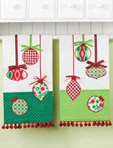 Ribbon & Ornament Tea Towels