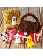 Farmyard Finger Puppets Crochet Pattern