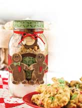 Christmas Gingerbread Jar
