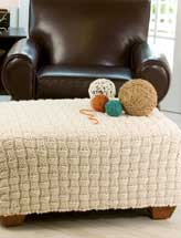 Bulky Basketweave Pillow & Ottoman Cover