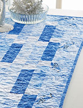 Winter Blues Table Runner