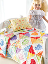 Sleep Tight Doll Quilt & Pillowcase