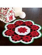 Winter Rose Doily