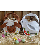Easter Bunny & Sheep Baskets