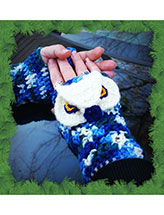 Majestic Owl Mitts