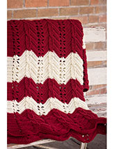 Classic Cable Chevron Afghan