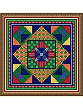 Crazy Quilt Block Color Explosion