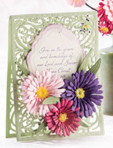 Paper Asters Card & Bouquet