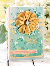 Rolled Vellum Flower Card