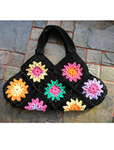 Granny Square Hobo Purse