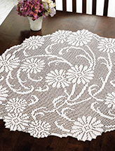 Art Nouveau Daisies Table Topper