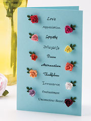 Rose Colors & Meanings Card