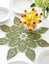 Shooting Star Pineapple Doily