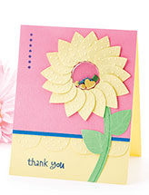 Shaker Flower Thank You Card