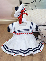 Little Sailorette Dress Set
