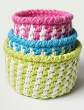 Striped Baskets