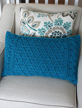 Cables & Lattice Pillow Cover