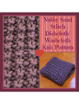 Nubby Sand Stitch Dishcloth/Washcloth
