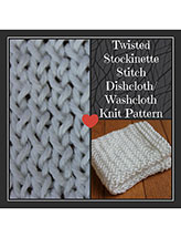 Twisted Stockinette Stitch Dishcloth/Washcloth