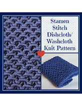 Stamen Stitch Dishcloth/Washcloth