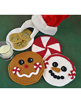 Peppermint Pals Hot Pads